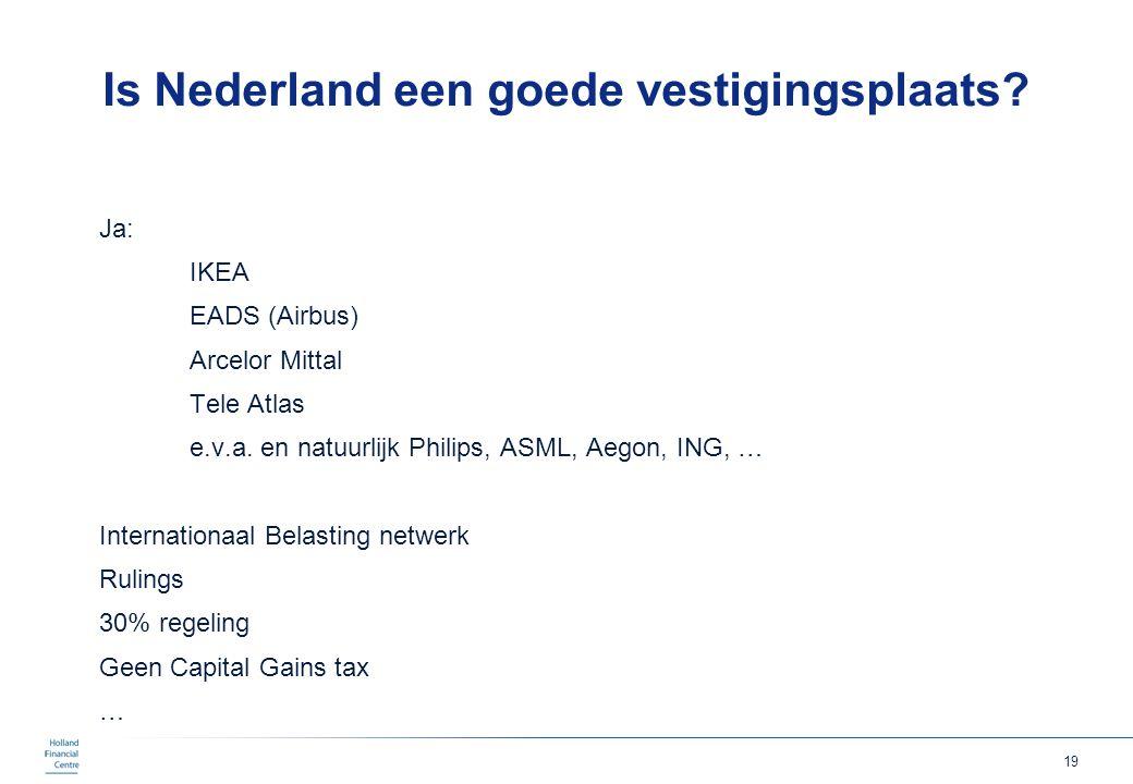 Is Nederland een goede vestigingsplaats