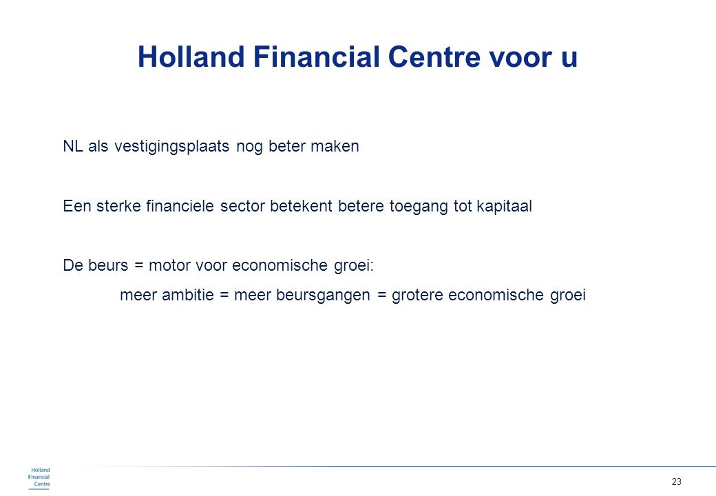 Holland Financial Centre voor u
