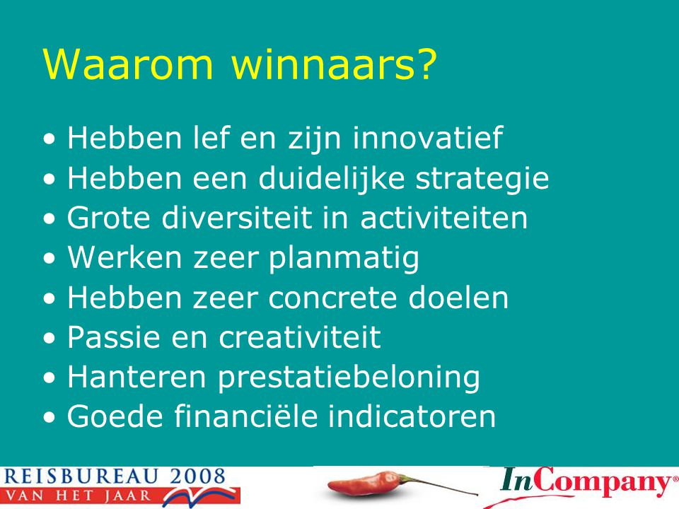 Waarom winnaars Hebben lef en zijn innovatief