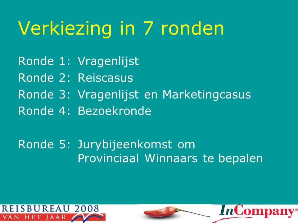 Verkiezing in 7 ronden Ronde 1: Vragenlijst Ronde 2: Reiscasus
