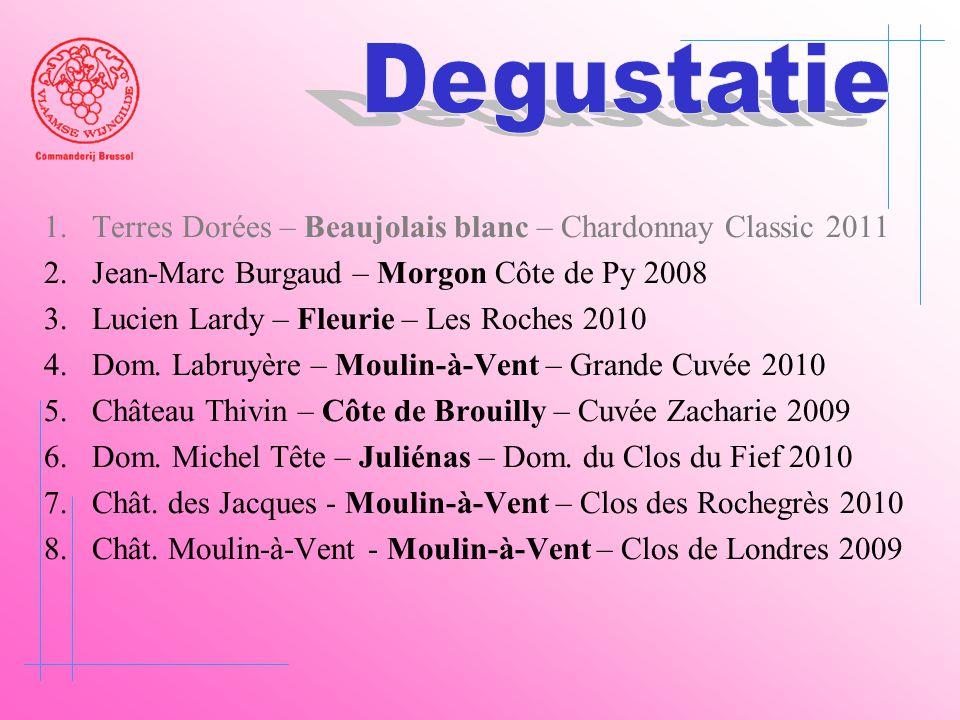 Degustatie Terres Dorées – Beaujolais blanc – Chardonnay Classic 2011