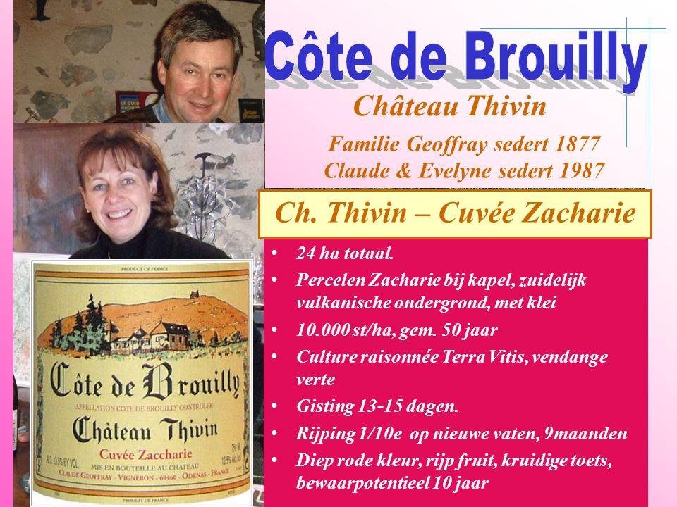 Côte de Brouilly Château Thivin Ch. Thivin – Cuvée Zacharie