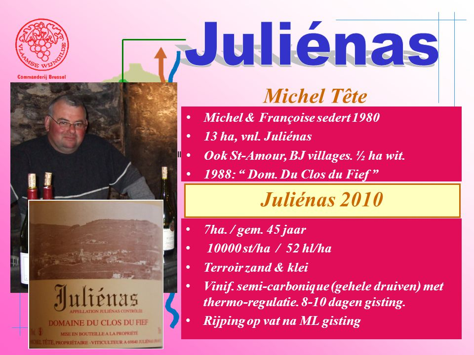 Juliénas Michel Tête Juliénas 2010 Michel & Françoise sedert 1980