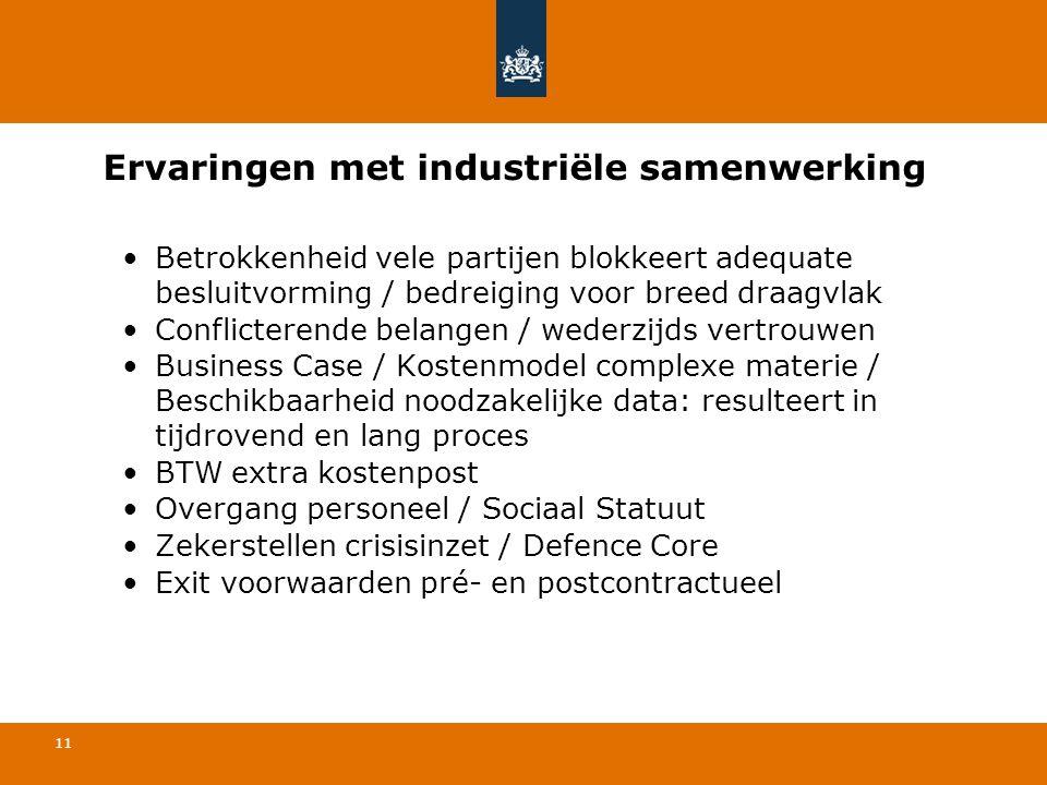 Ervaringen met industriële samenwerking