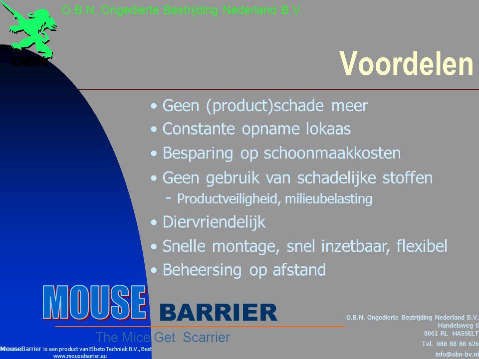 Voordelen MOUSE BARRIER Geen (product)schade meer
