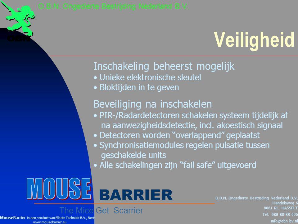 Veiligheid MOUSE BARRIER Inschakeling beheerst mogelijk