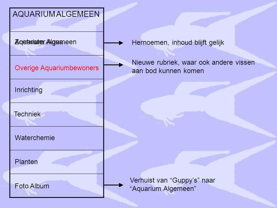 AQUARIUM ALGEMEEN Aquarium Algemeen Zoetwater Aqua