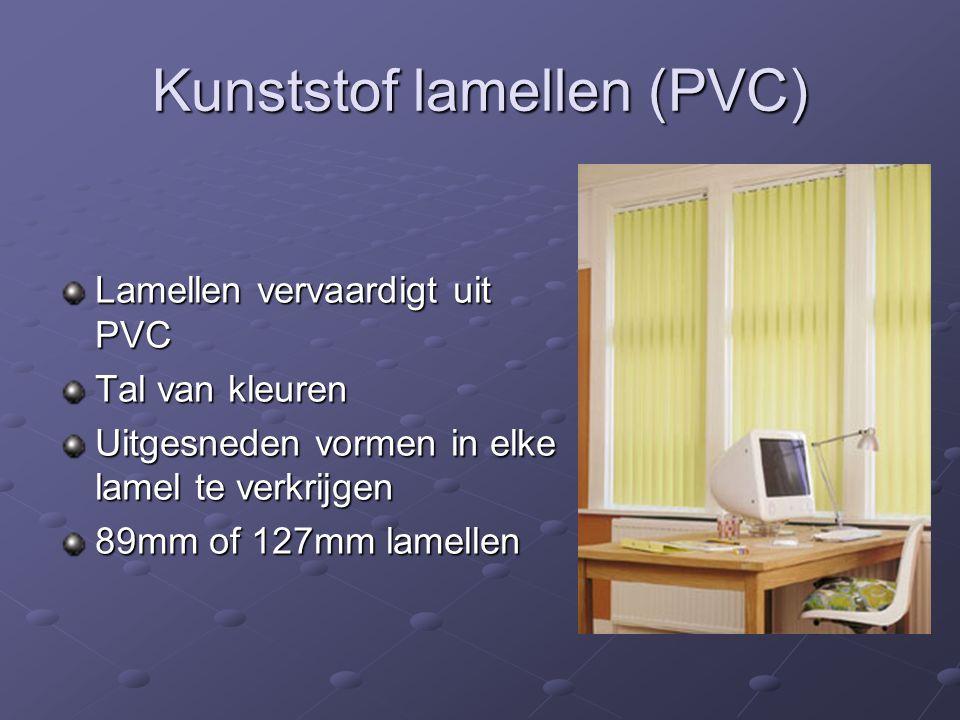 Kunststof lamellen (PVC)
