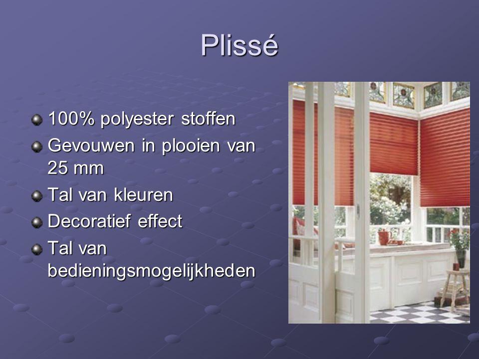 Plissé 100% polyester stoffen Gevouwen in plooien van 25 mm