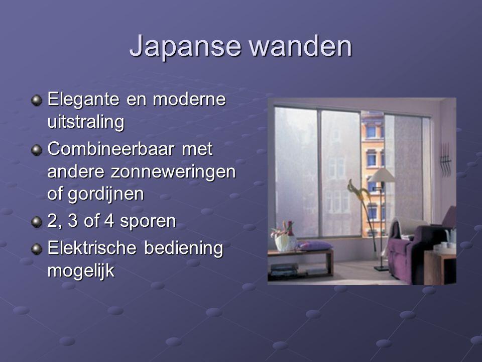 Japanse wanden Elegante en moderne uitstraling