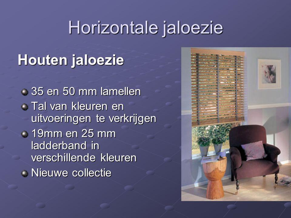 Horizontale jaloezie Houten jaloezie 35 en 50 mm lamellen