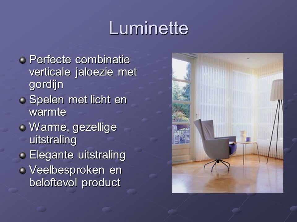 Luminette Perfecte combinatie verticale jaloezie met gordijn