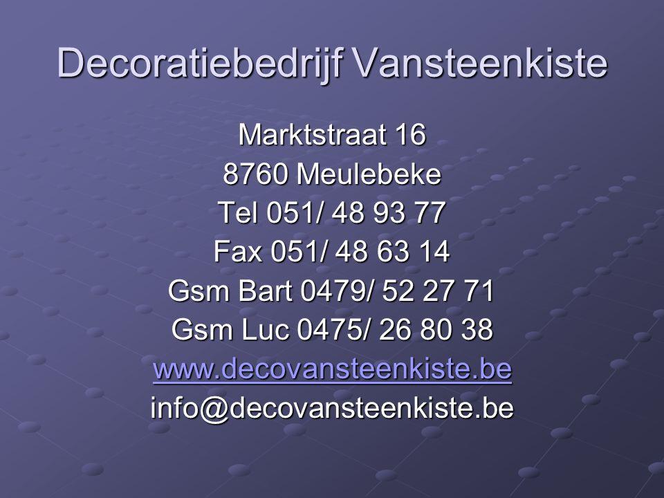 Decoratiebedrijf Vansteenkiste