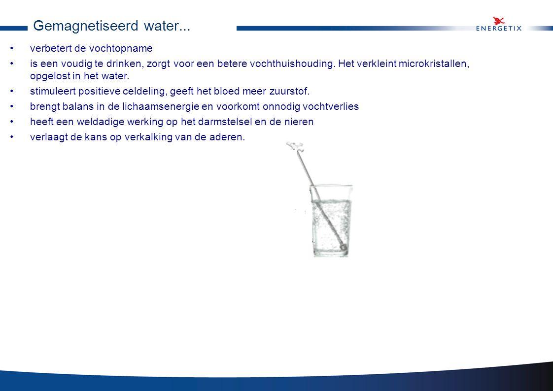 Gemagnetiseerd water... verbetert de vochtopname