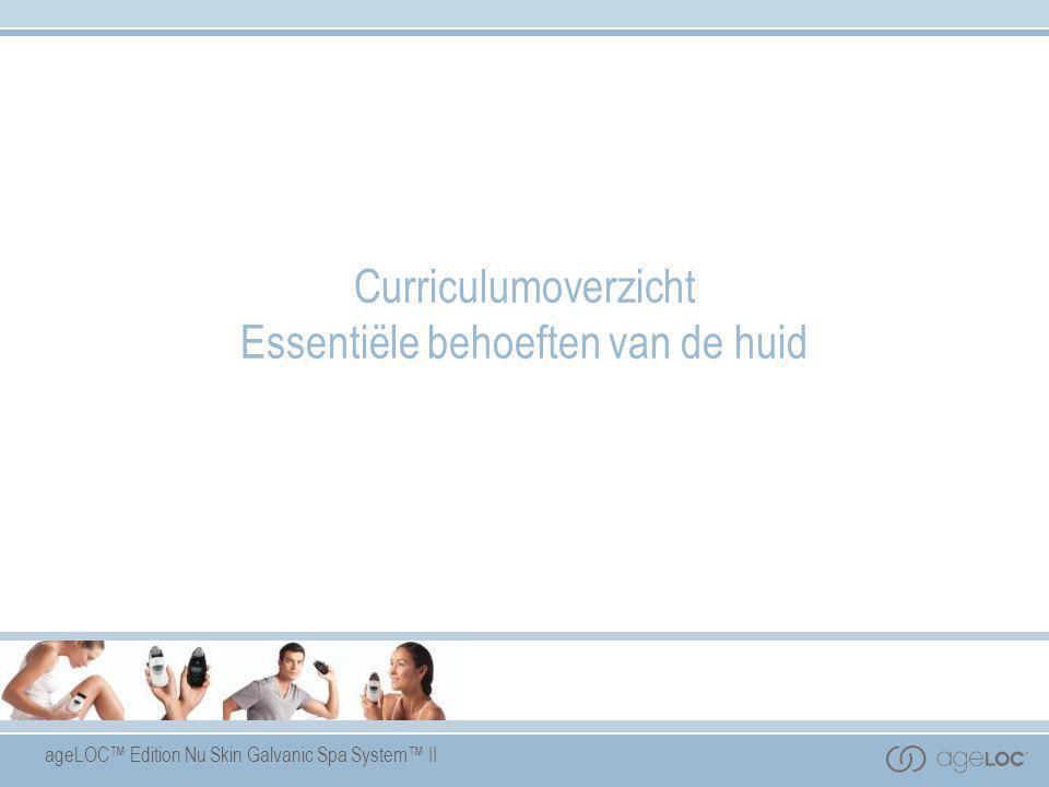 Curriculumoverzicht Essentiële behoeften van de huid