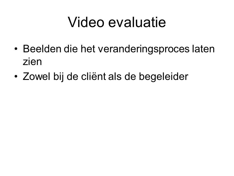 Video evaluatie Beelden die het veranderingsproces laten zien