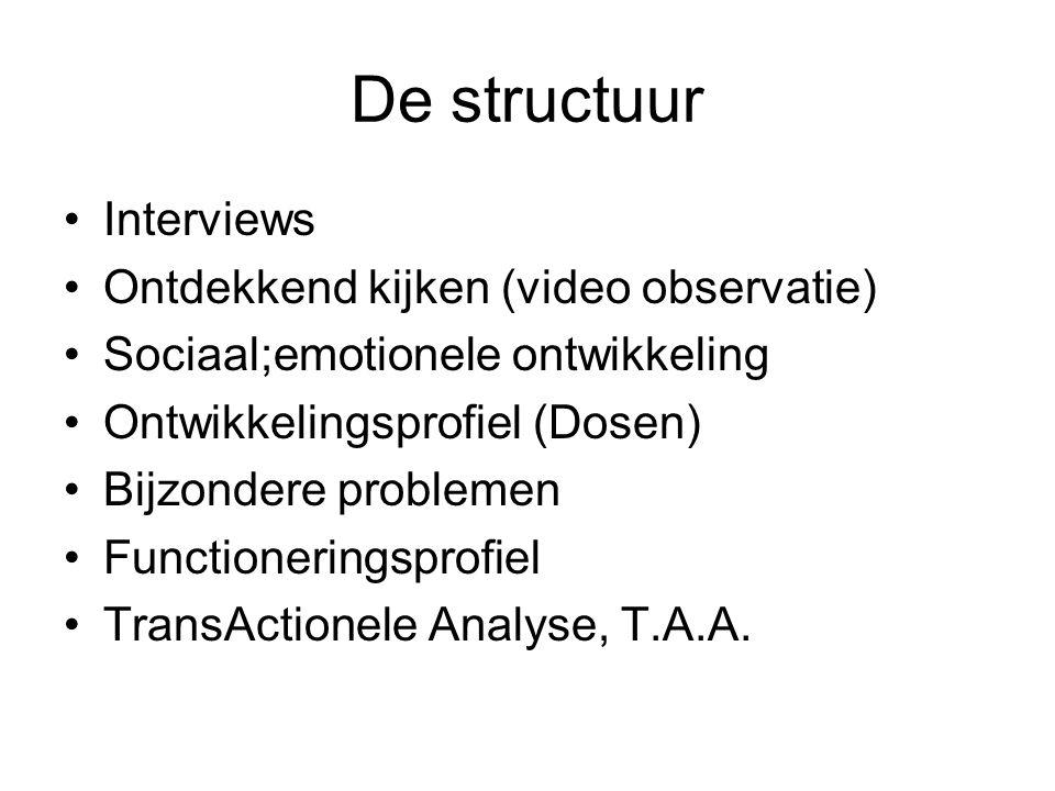 De structuur Interviews Ontdekkend kijken (video observatie)