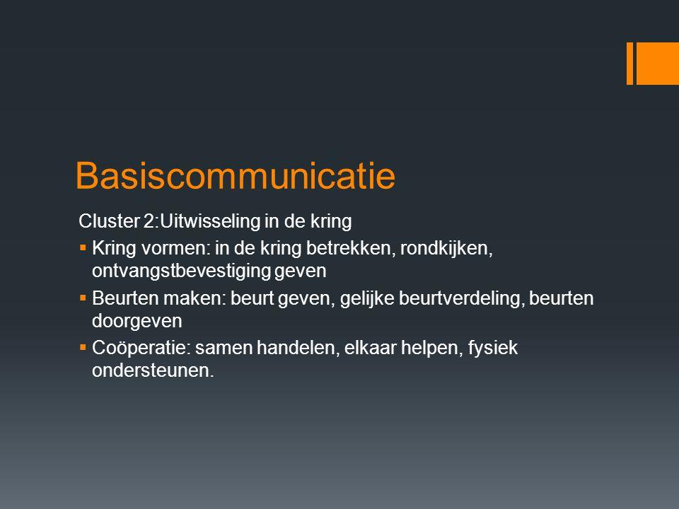 Basiscommunicatie Cluster 2:Uitwisseling in de kring