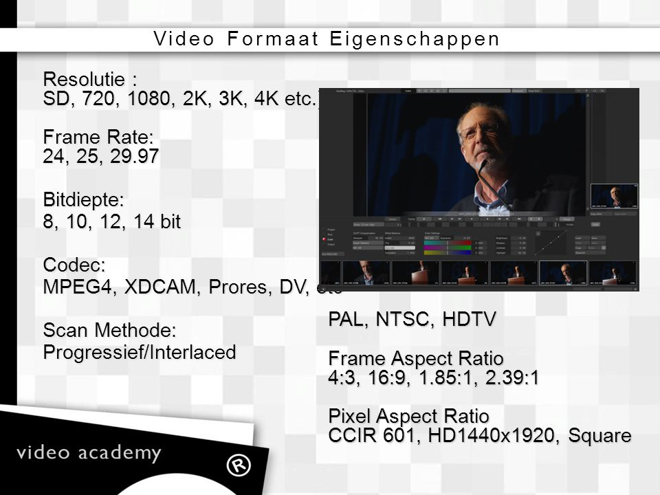 Video Formaat Eigenschappen