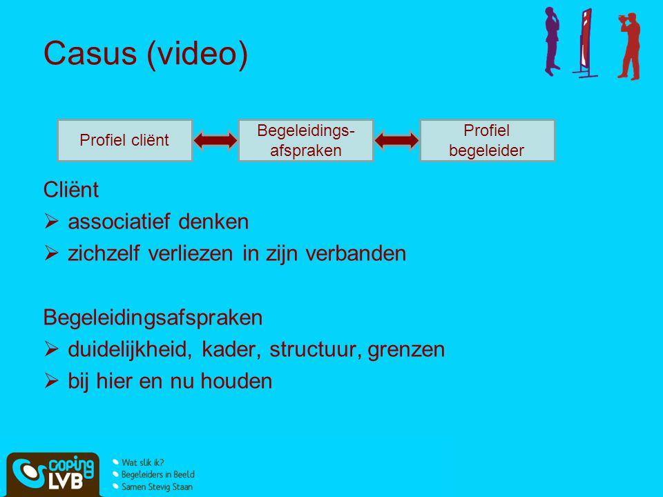 Casus (video) Cliënt associatief denken