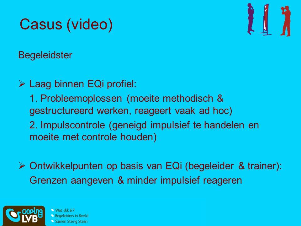 Casus (video) Begeleidster Laag binnen EQi profiel: