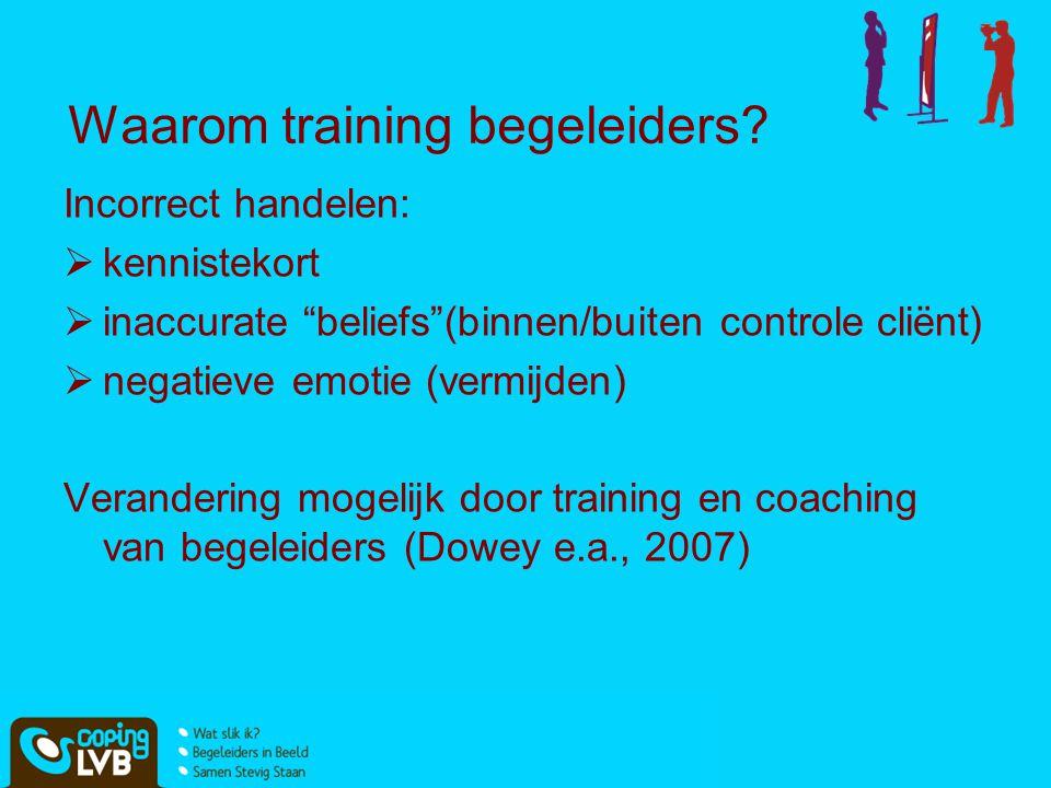 Waarom training begeleiders