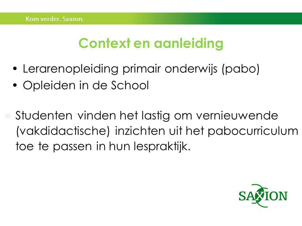 Context en aanleiding Lerarenopleiding primair onderwijs (pabo)