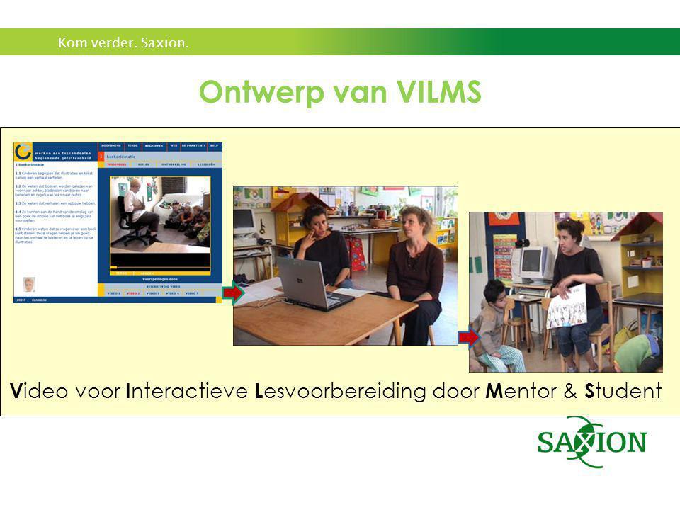 Ontwerp van VILMS Video voor Interactieve Lesvoorbereiding door Mentor & Student