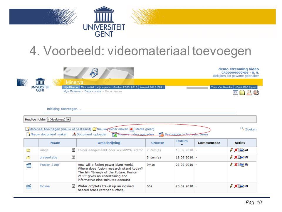 4. Voorbeeld: videomateriaal toevoegen