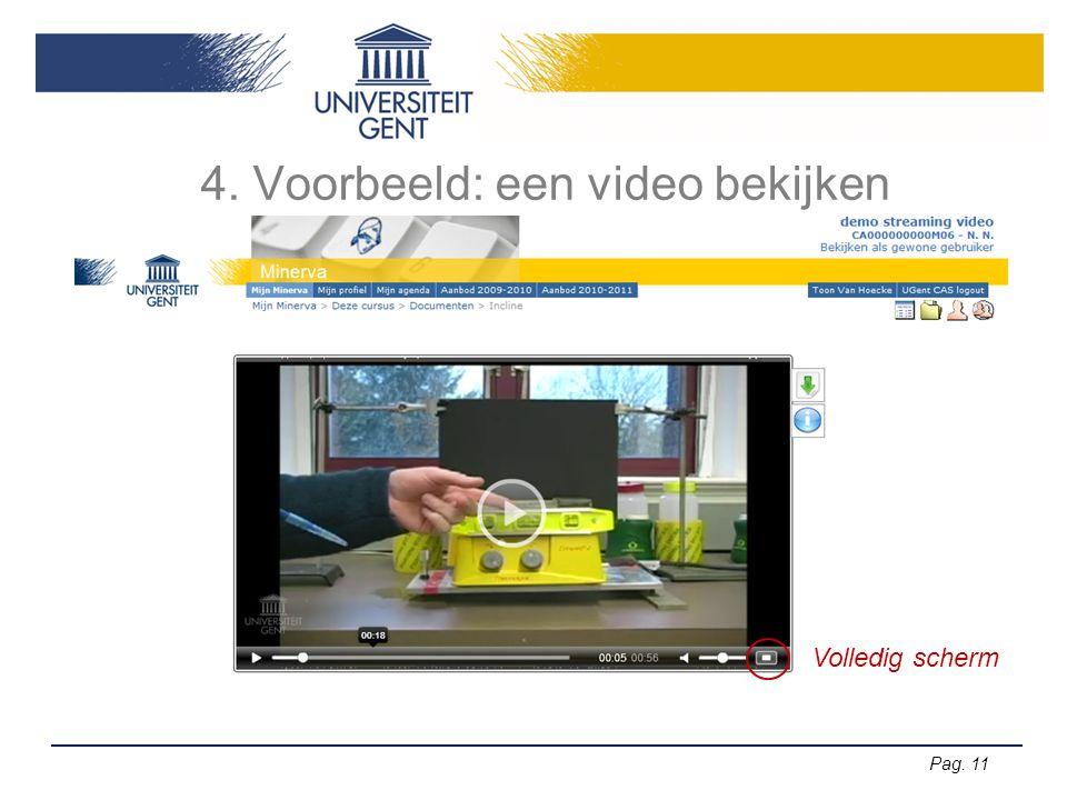 4. Voorbeeld: een video bekijken