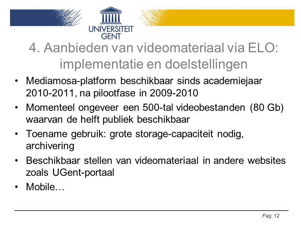 4. Aanbieden van videomateriaal via ELO: implementatie en doelstellingen