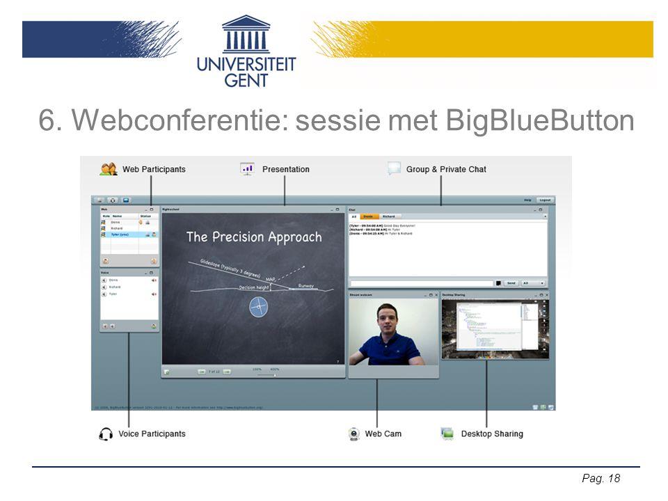 6. Webconferentie: sessie met BigBlueButton