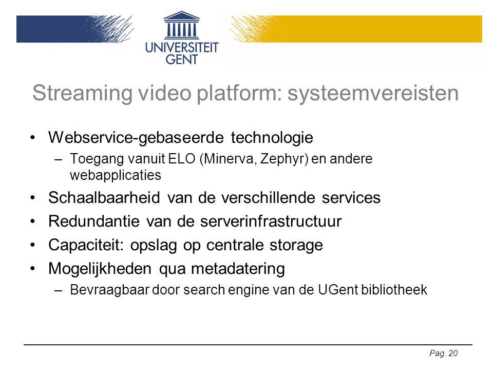 Streaming video platform: systeemvereisten