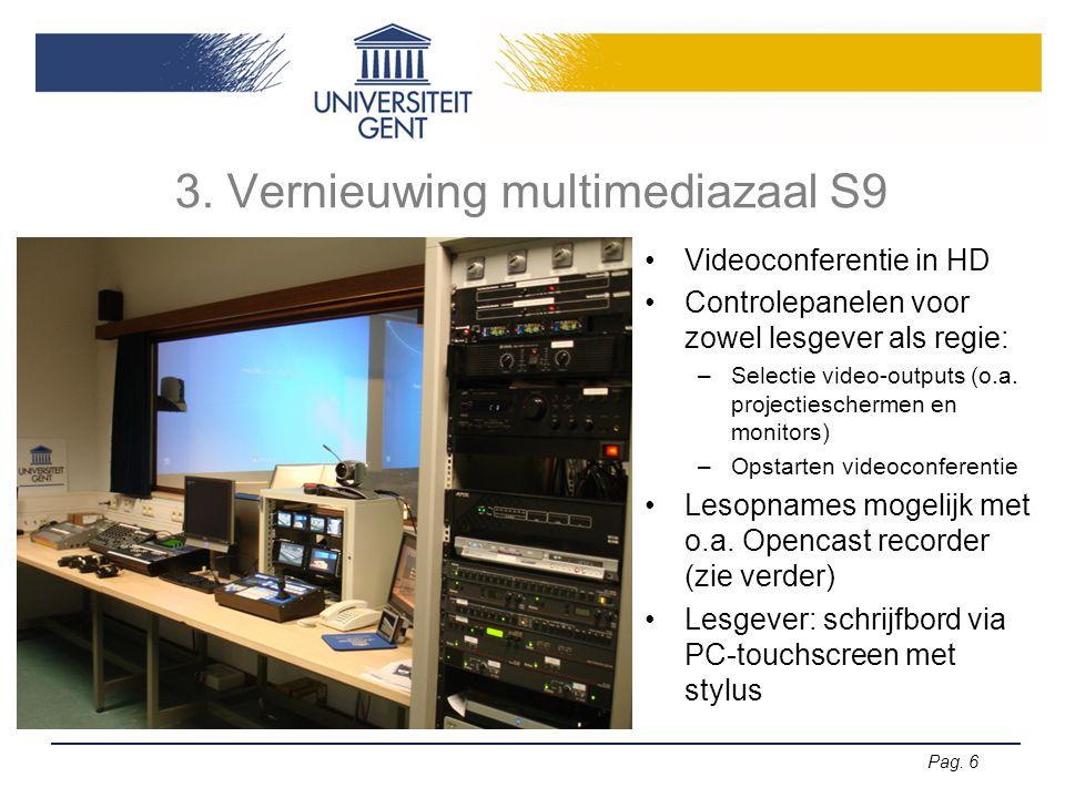 3. Vernieuwing multimediazaal S9
