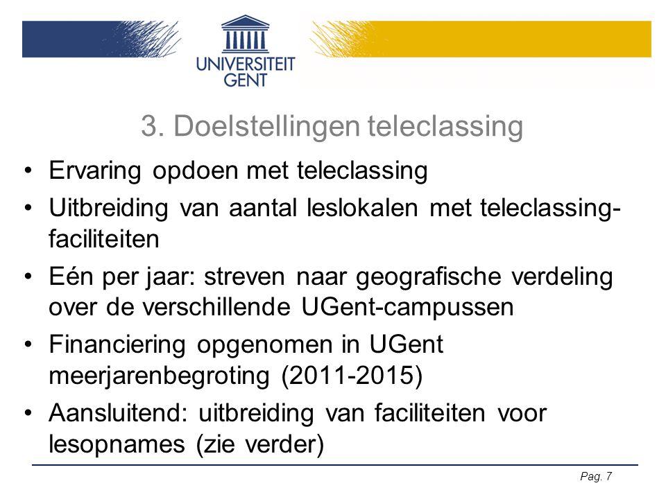 3. Doelstellingen teleclassing