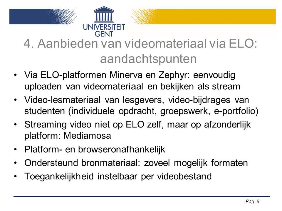 4. Aanbieden van videomateriaal via ELO: aandachtspunten