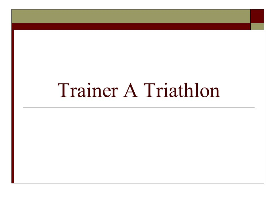 Trainer A Triathlon