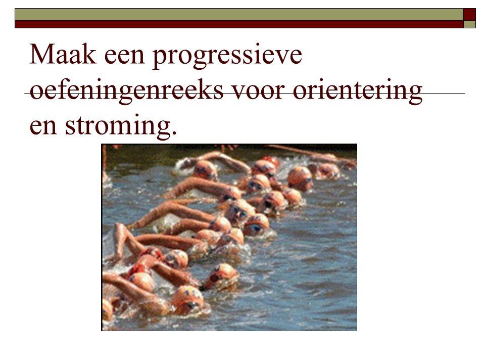 Maak een progressieve oefeningenreeks voor orientering en stroming.