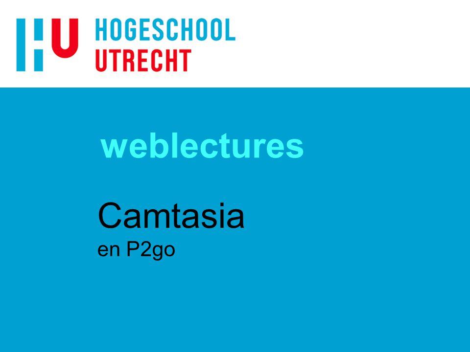 weblectures Camtasia en P2go