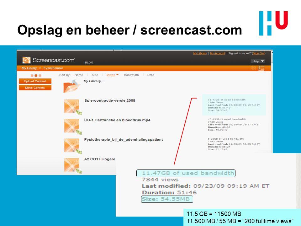 Opslag en beheer / screencast.com
