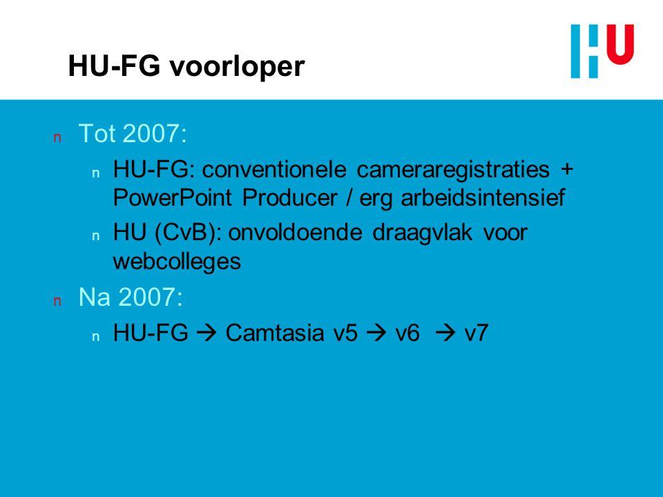 HU-FG voorloper Tot 2007: Na 2007: