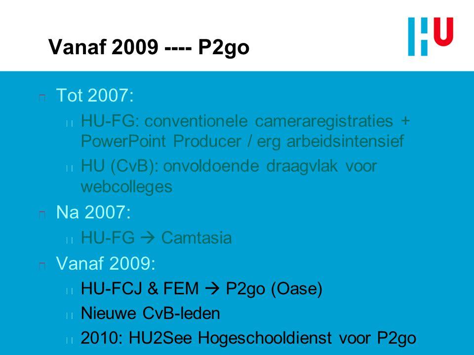 Vanaf 2009 ---- P2go Tot 2007: Na 2007: Vanaf 2009: