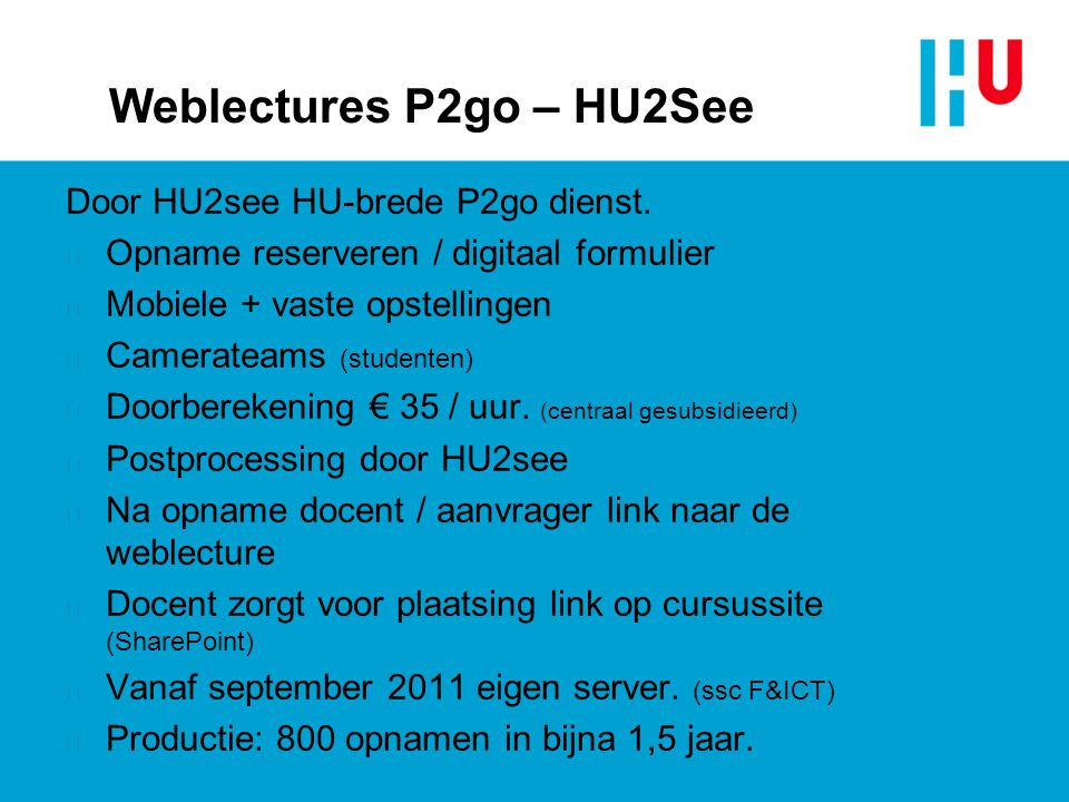 Weblectures P2go – HU2See
