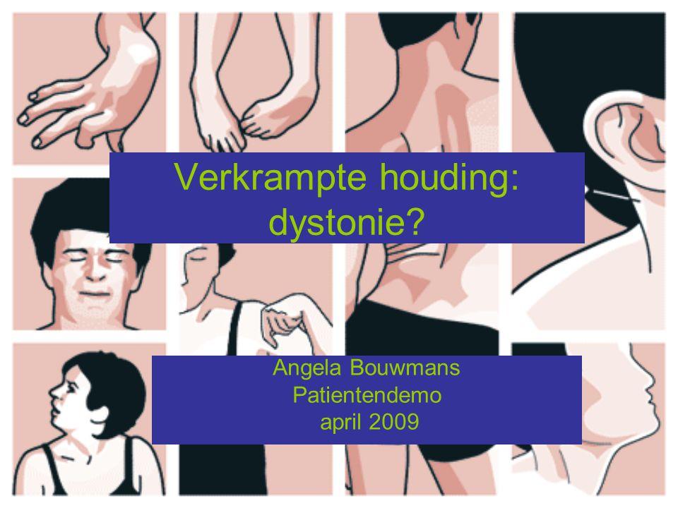 Verkrampte houding: dystonie