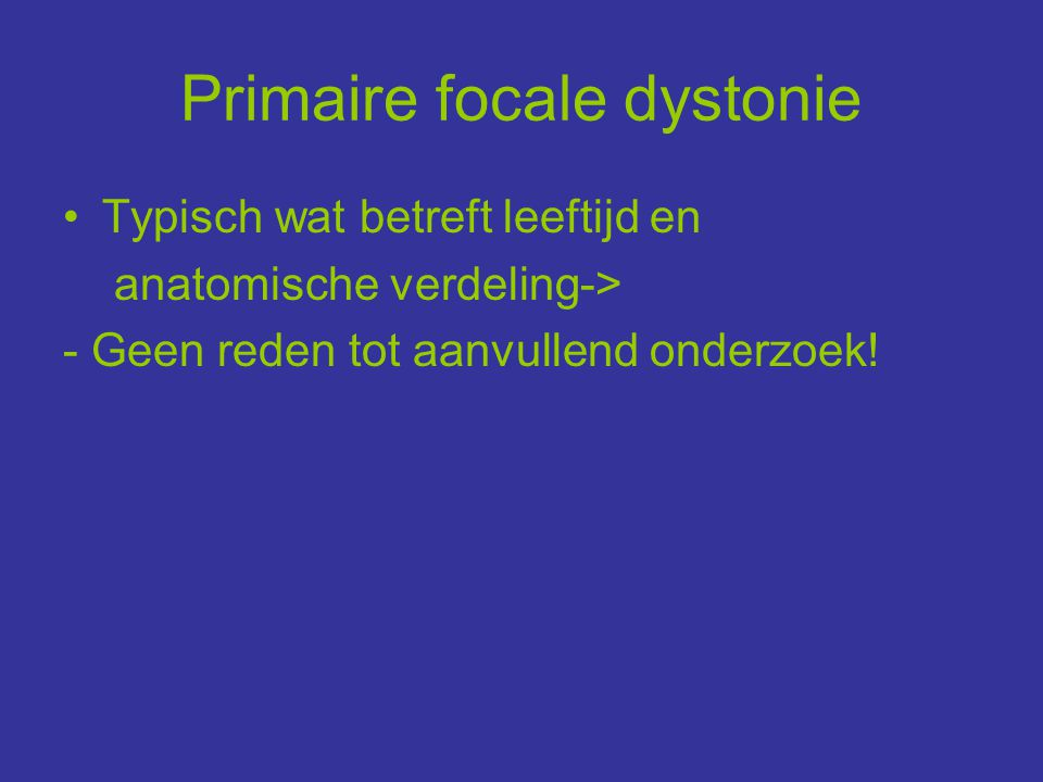 Primaire focale dystonie