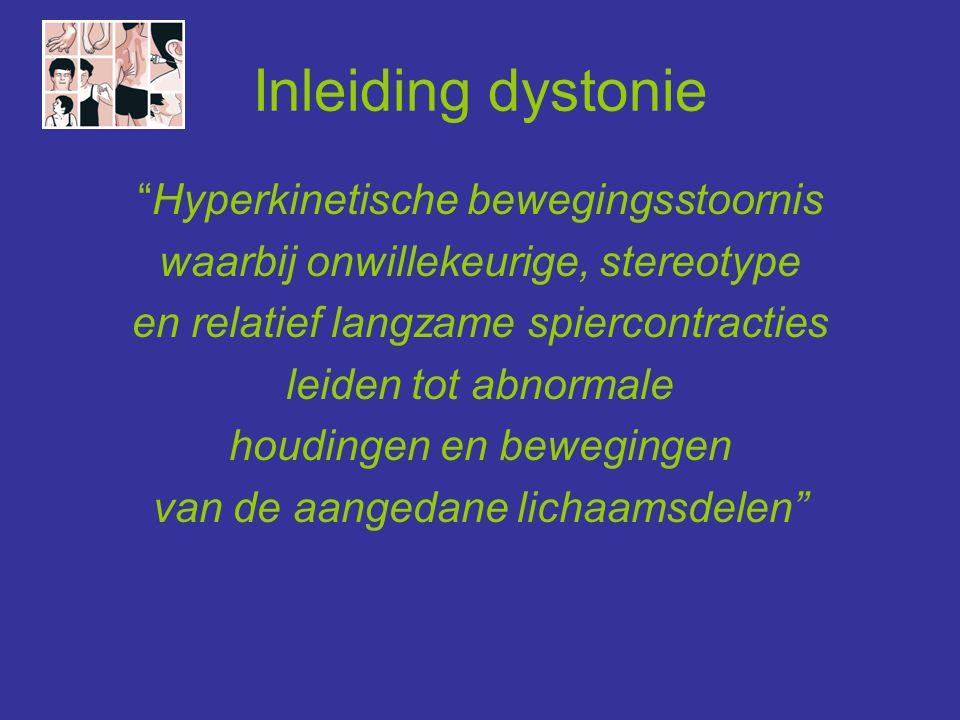 Inleiding dystonie Hyperkinetische bewegingsstoornis