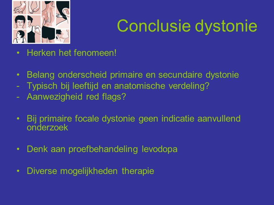 Conclusie dystonie Herken het fenomeen!