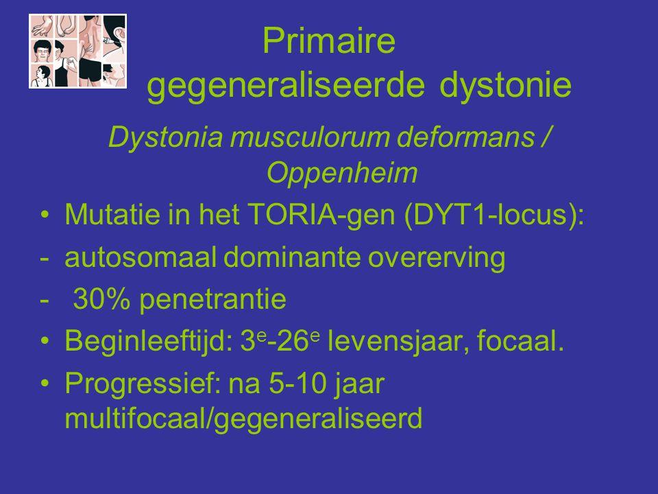 Primaire gegeneraliseerde dystonie
