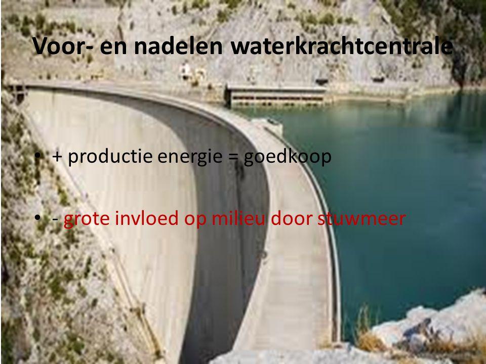 Voor- en nadelen waterkrachtcentrale