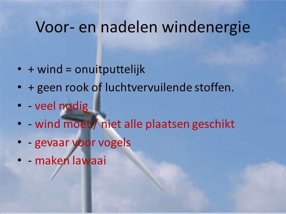 Voor en nadelen windenergie